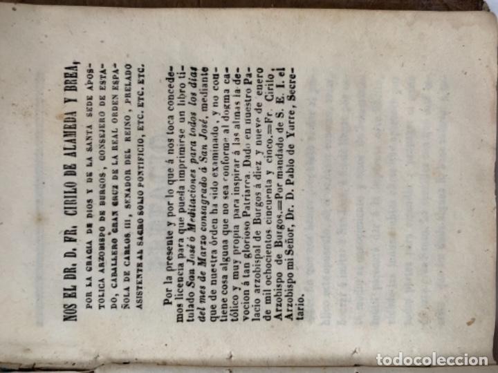 Libros antiguos: San José o Meditaciones para todos los días del mes de marzo - Foto 2 - 187605257
