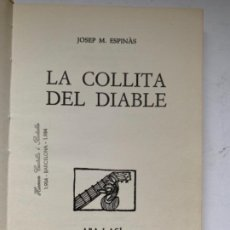 Libros antiguos: LA COLLITA DEL DIABLE. Lote 187606661