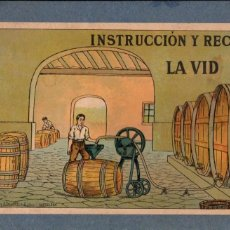 Libros antiguos: INSTRUCCIÓN Y RECREO - LA VID - EL VINO (SALVATELLA, C. 1930) LIBRO PARA COLOREAR. Lote 188410042
