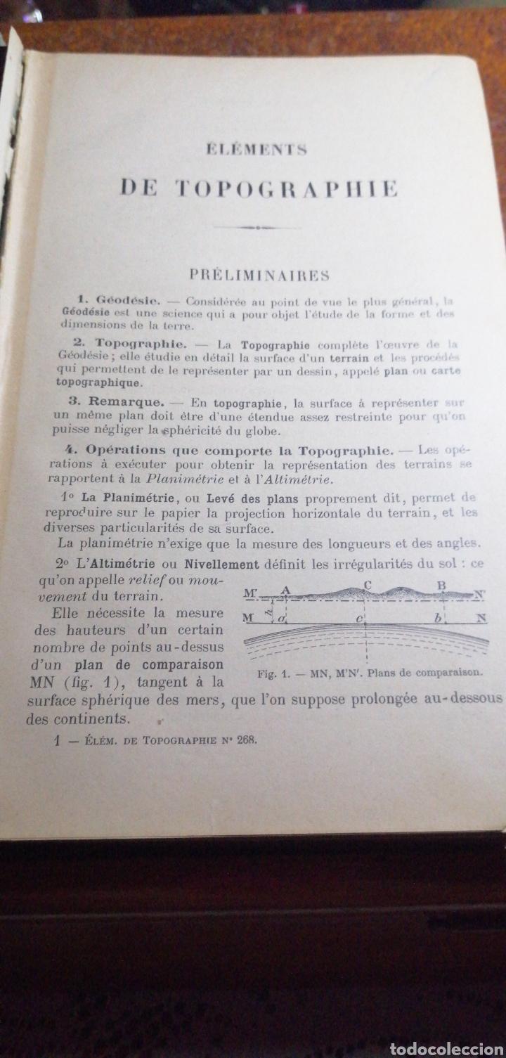 Libros antiguos: ANTIGUO LIBRO DE 1914 ELEMENTS DE TOPOGRAPHIE POR EDMOND GABRIEL - Foto 3 - 188495845