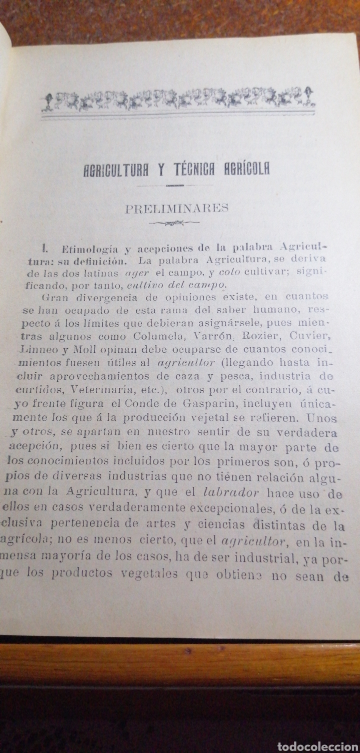 Libros antiguos: ANTIGUO LIBRO DE 1904 ELEMENTOS DE AGRICULTURA Y TÉCNICA AGRÍCOLA E INDUSTRIAL TOMO I - Foto 2 - 188497780