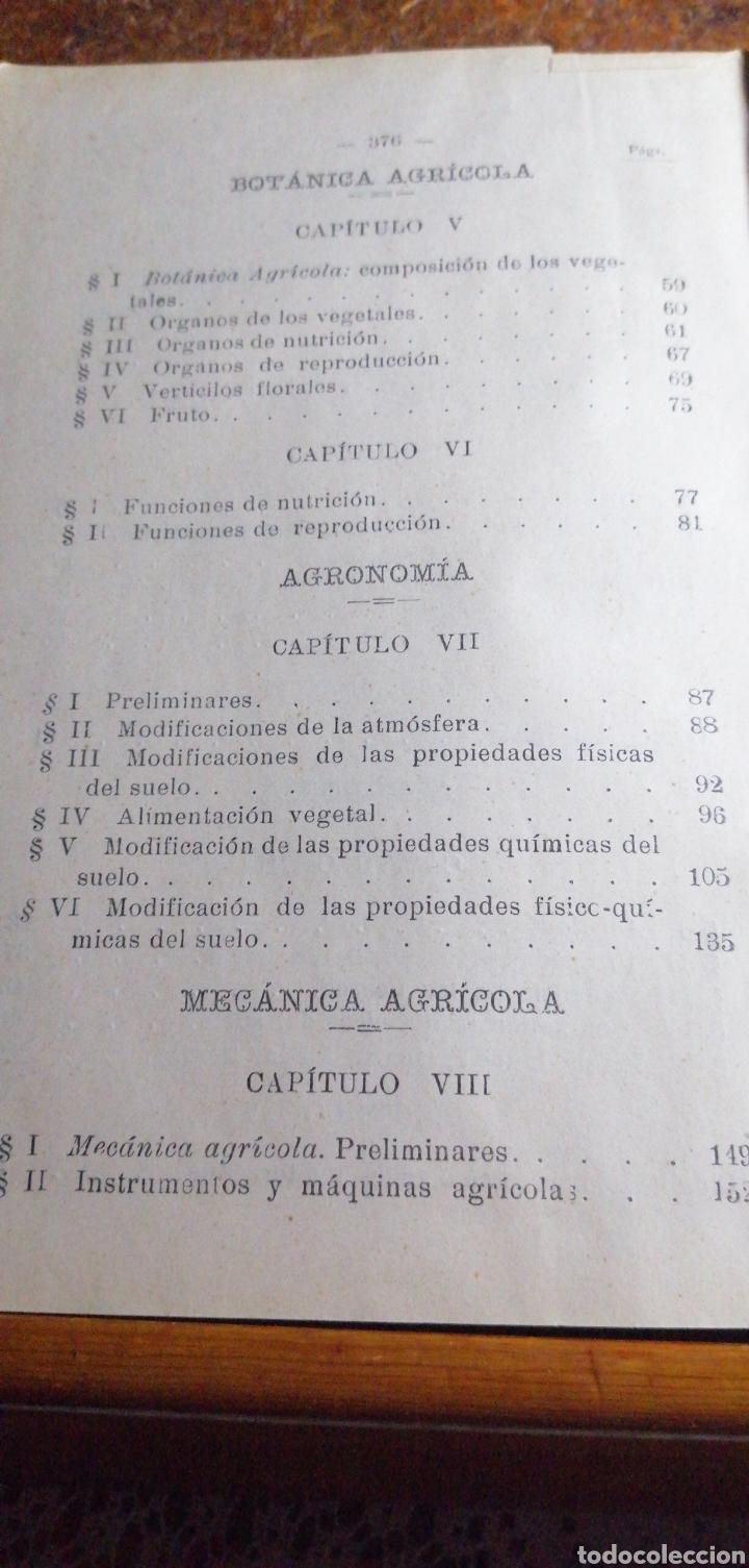 Libros antiguos: ANTIGUO LIBRO DE 1904 ELEMENTOS DE AGRICULTURA Y TÉCNICA AGRÍCOLA E INDUSTRIAL TOMO I - Foto 6 - 188497780