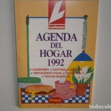 Libros antiguos: AGENDA DEL HOGAR 1992 LECTURAS MAGGI, RECETAS, PLANTAS... . Lote 188533118