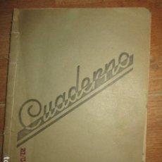 Libros antiguos: LIRETA INEDITA ORIGINAL CON ESCRITOS PERSONALES SORE GUERRA CIVIL DE CARLOS HERRERO. Lote 188545728