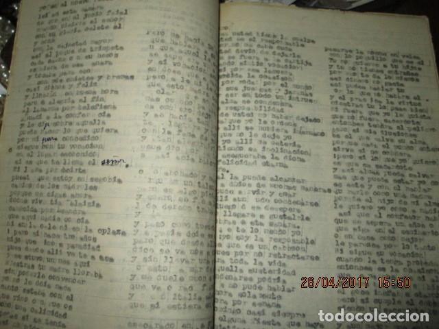 Libros antiguos: LIRETA INEDITA ORIGINAL CON ESCRITOS PERSONALES SORE GUERRA CIVIL DE CARLOS HERRERO - Foto 8 - 188545728