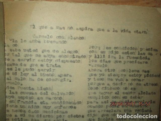 Libros antiguos: LIRETA INEDITA ORIGINAL CON ESCRITOS PERSONALES SORE GUERRA CIVIL DE CARLOS HERRERO - Foto 11 - 188545728