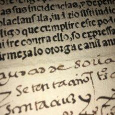 Libros antiguos: RARO IMPRESO GÓTICO ESPAÑOL. CARTA DE PODER. ANTERIOR A 1570. SORIA. Lote 188552170
