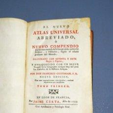Libros antiguos: NUEVO ATLAS UNIVERSAL ABREVIADO O NUEVO COMPENDIO DE GEOGRAFÍA, POLÍTICA E HISTORIA-GIUSTINIANI-1775. Lote 188577093