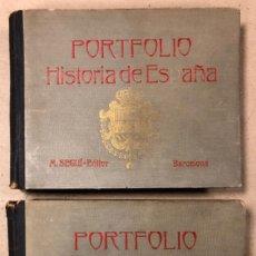 Libros antiguos: PORTFOLIO HISTORIA DE ESPAÑA (2 TOMOS). MANUEL SANDOVAL DEL RÍO. M. SEGUÍ EDITOR.. Lote 168094534