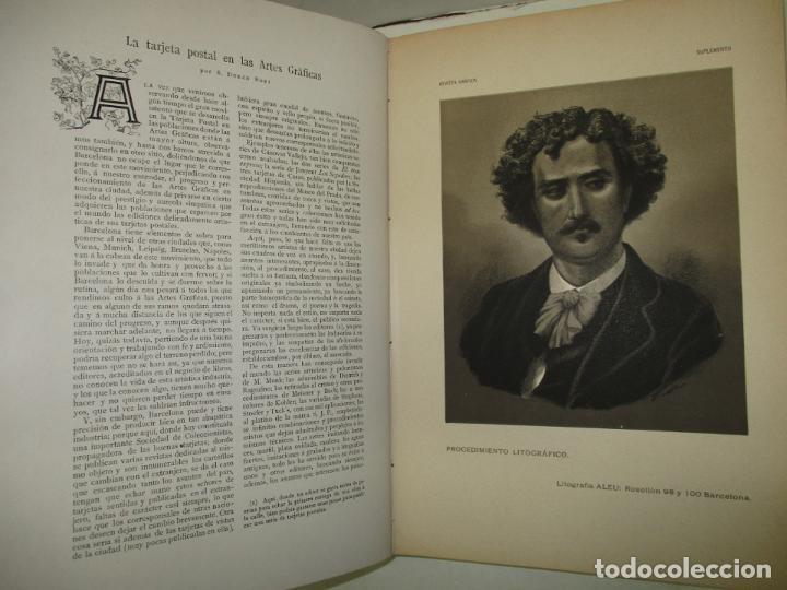 Libros antiguos: REVISTA GRÁFICA. 1901-1902. - INSTITUTO CATALÁN DE LAS ARTES DEL LIBRO. 1902. - Foto 4 - 123202467