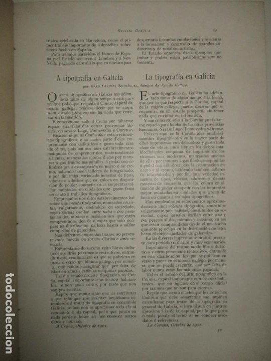 Libros antiguos: REVISTA GRÁFICA. 1901-1902. - INSTITUTO CATALÁN DE LAS ARTES DEL LIBRO. 1902. - Foto 5 - 123202467