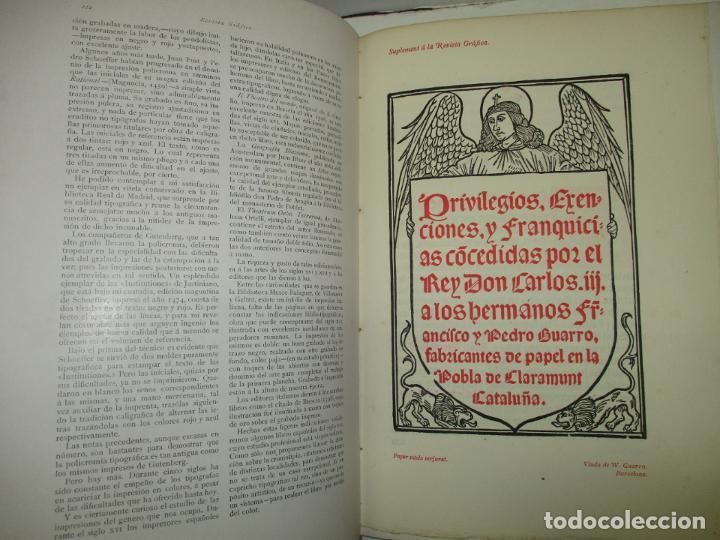 Libros antiguos: REVISTA GRÁFICA. 1901-1902. - INSTITUTO CATALÁN DE LAS ARTES DEL LIBRO. 1902. - Foto 6 - 123202467