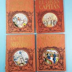 Libri antichi: LOTE 4 LIBROS DALMAU CARLES, EL GRAN CAPITAN, GRAVINA Y CHURRUCA,MENDEZ NUÑEZ Y GUERRA INDEPENDENCIA. Lote 188643588