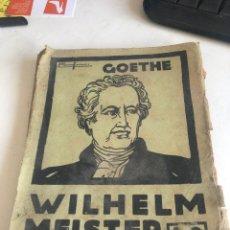 Libros antiguos: GOETHE. Lote 188797646