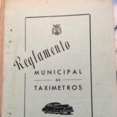 Libros antiguos: REGLAMENTO MUNICIPAL TAXIMETROS. VITORIA 1950. Lote 188809315