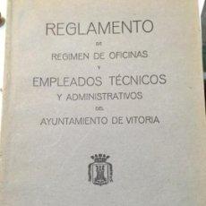 Libros antiguos: REGLAMENTO DE REGIMEN DE OFICINAS...VITORIA 1930. Lote 188809825