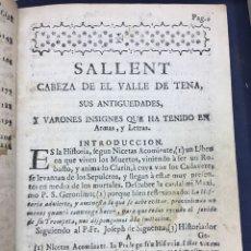 Libros antiguos: LEON BENITO MARTON.SALLENT CABEZA DE EL VALLE DE TENA. PAMPLONA 1760. MUY RARO. ORIGINAL Y FACSÍMIL.. Lote 189076616