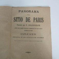 Libros antiguos: PANORAMA DEL SITIO DE PARÍS - PINTADO POR F. PHILIPPOTEAUX - CON PLANO DE LA BATALLA DE 1871. Lote 189098136