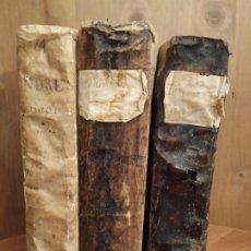 Libros antiguos: LIBRO PERGAMINO SERMONES PANEGIRICOS II 1762 INSTRUCCIONES CRISTIANAS III 1721 THESAUROS SALAS 1727. Lote 189365487