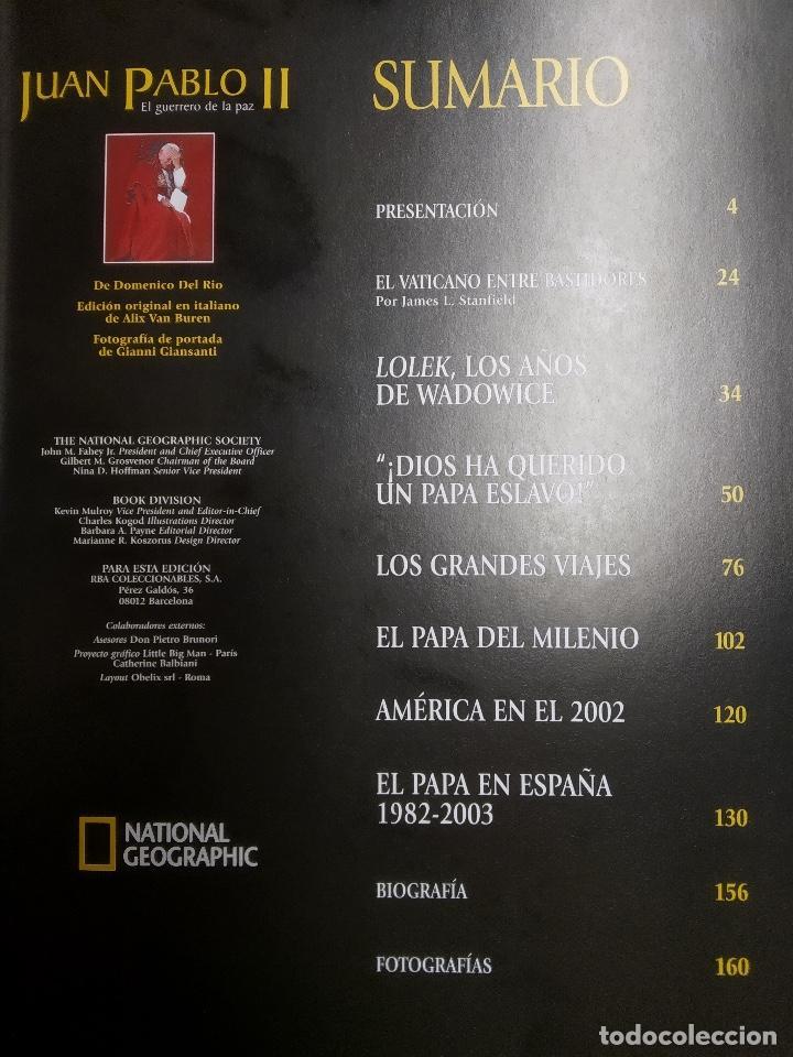Libros antiguos: Juan Pablo II el guerrero de la paz de National Geographic - Foto 2 - 167838380