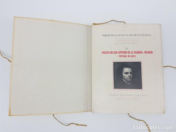Libros antiguos: ARTE ESPAÑOL ( SAN ANTONIO DE LA FLORIDA ) LA PLANA ( 1924 ) LAMINAS - Foto 3 - 189757575