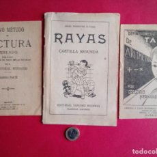 Libri antichi: TRES ANTIGUAS CARTILLAS ESCOLARES.. Lote 190008693