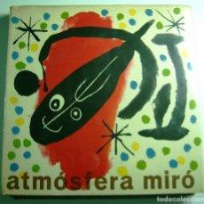 Libros antiguos: JOAN MIRÓ, PROYECTO DE PORTADA PARA ATMOSFERA, 1959. Lote 190029497