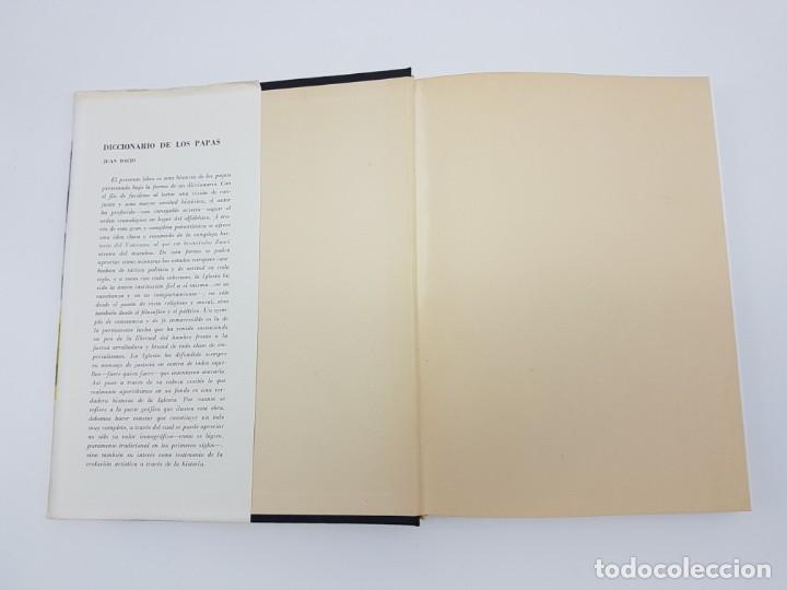 Libros antiguos: DICCIONÁRIO DE LOS PAPAS ( JUAN DACIO ) 1º EDICIÓN ( AÑO 1963 ) - Foto 2 - 190118371