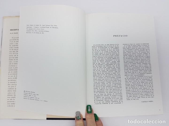Libros antiguos: DICCIONÁRIO DE LOS PAPAS ( JUAN DACIO ) 1º EDICIÓN ( AÑO 1963 ) - Foto 4 - 190118371
