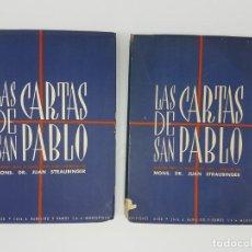 Libros antiguos: LAS CARTAS DE SAN PABLO ( EDIC. NUMERADA ) ALDU, MONTEVIDEO 1947 ( 2 TOMOS ). Lote 190119821