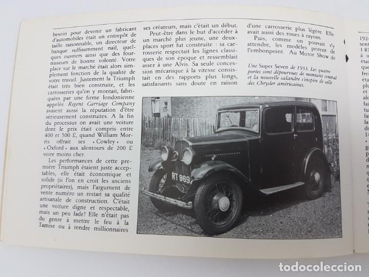 Libros antiguos: HISTÓRIA AUTOMÓVIL TRIUMPH, 1984 ( COLECCIÓN TOUTE LHISTORIE ) EN FRANCES - Foto 3 - 190120403