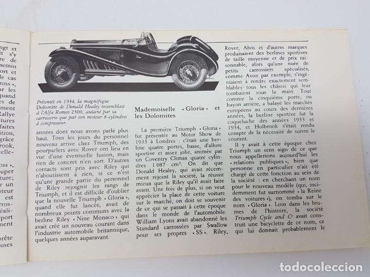 Libros antiguos: HISTÓRIA AUTOMÓVIL TRIUMPH, 1984 ( COLECCIÓN TOUTE LHISTORIE ) EN FRANCES - Foto 5 - 190120403