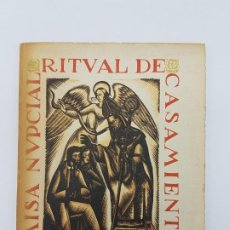 Libros antiguos: MISA NUPCIAL RITUAL CASAMIENTO ( RÚSTICA ) ENLACE CABARROCAS-ZAMORA 1970. Lote 190121152
