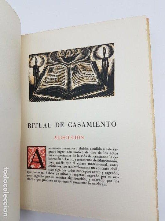 Libros antiguos: MISA NUPCIAL RITUAL CASAMIENTO ( RÚSTICA ) ENLACE CABARROCAS-ZAMORA 1970 - Foto 3 - 190121152