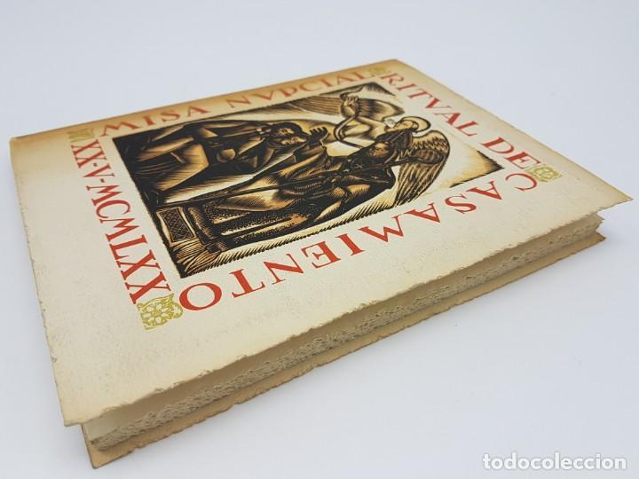 Libros antiguos: MISA NUPCIAL RITUAL CASAMIENTO ( RÚSTICA ) ENLACE CABARROCAS-ZAMORA 1970 - Foto 6 - 190121152