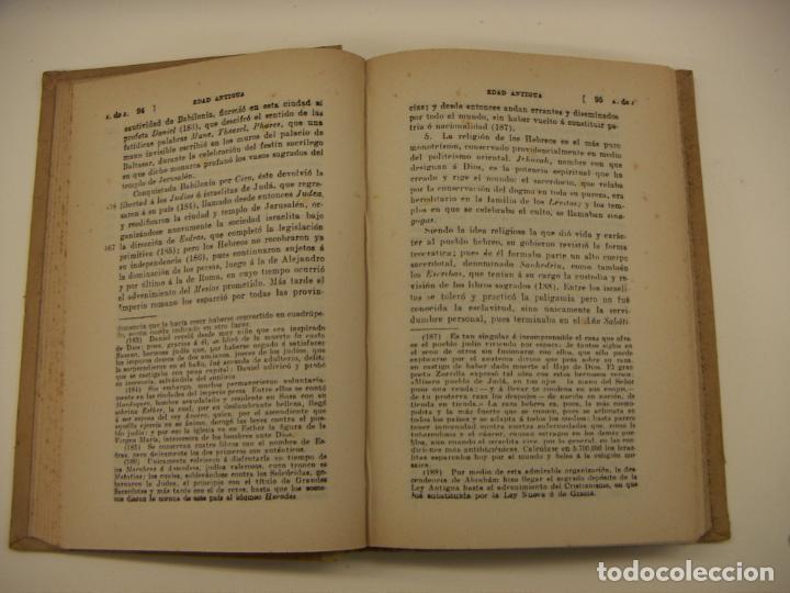 Libros antiguos: COMPENDIO DE LA HISTORIA UNIVERSAL MORENO ESPINOSA EDITORIAL ATLANTE BARCELONA - Foto 3 - 190123136