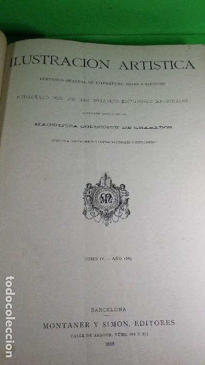 Libros antiguos: 1.885 LA ILUSTRACIÓN ARTÍSTICA. - Foto 4 - 190294572