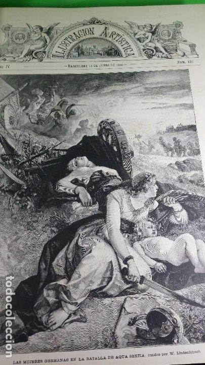 Libros antiguos: 1.885 LA ILUSTRACIÓN ARTÍSTICA. - Foto 14 - 190294572