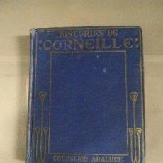 Libros antiguos: HISTORIAS DE CORNEILLE - JOSÉ BAEZA. COLECCIÓN ARALUCE. 1927. Lote 190315848