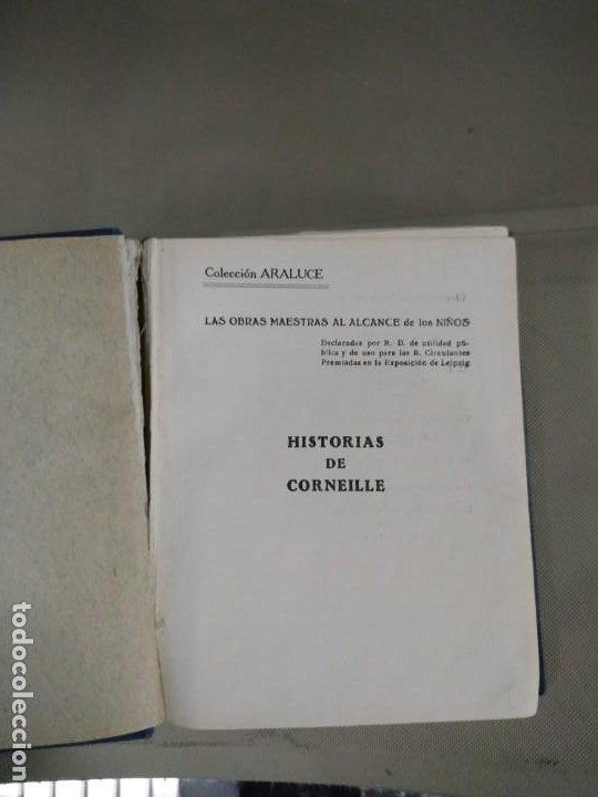 Libros antiguos: Historias de Corneille - José Baeza. Colección Araluce. 1927 - Foto 5 - 190315848