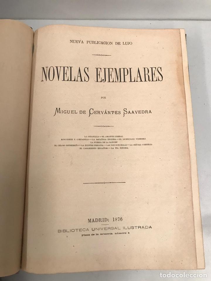 1876 - NOVELAS EJEMPLARES - DE CERVANTES - EDICION DE LUJO (Libros Antiguos, Raros y Curiosos - Literatura - Otros)