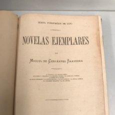 Libros antiguos: 1876 - NOVELAS EJEMPLARES - DE CERVANTES - EDICION DE LUJO. Lote 190393376