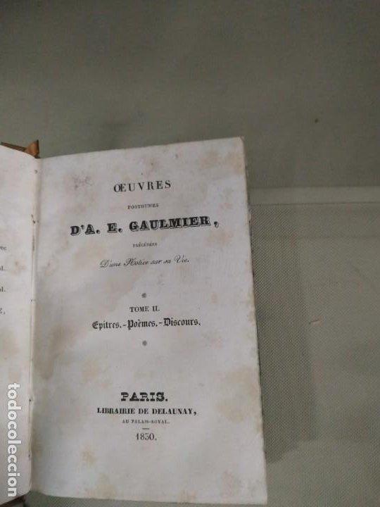 Libros antiguos: Oeuvres Postumes DA. E. Gaulmier Tome II. 1830 - Foto 6 - 190427100