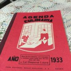 Libros antiguos: AGENDA CULINARIA ,LA DUQUESA LAURA 1933,ESCRITA. Lote 190433416
