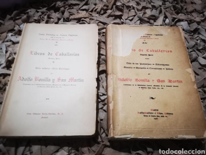 Libros antiguos: Libros de caballerias, por Adolfo Bonilla y San Martin. Tomo 1 y 2, 1908 - Foto 2 - 190451047