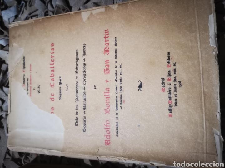 Libros antiguos: Libros de caballerias, por Adolfo Bonilla y San Martin. Tomo 1 y 2, 1908 - Foto 4 - 190451047