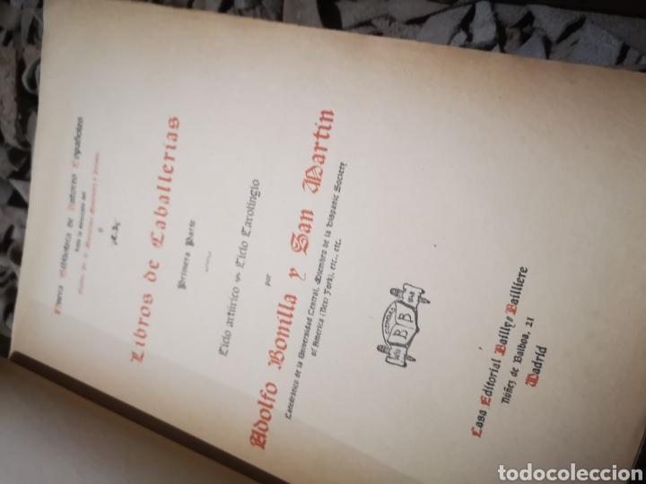 Libros antiguos: Libros de caballerias, por Adolfo Bonilla y San Martin. Tomo 1 y 2, 1908 - Foto 5 - 190451047