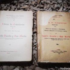 Libros antiguos: LIBROS DE CABALLERIAS, POR ADOLFO BONILLA Y SAN MARTIN. TOMO 1 Y 2, 1908. Lote 190451047