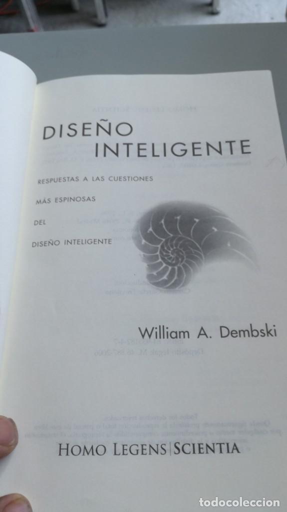 Libros antiguos: DISEÑO INTELIGENTE - WILLIAM A DEMBSKI - RESPUESTAS CUESTIONES MAS ESPINOSAS/ D303 - Foto 6 - 190475986
