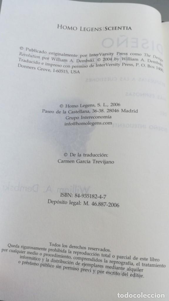Libros antiguos: DISEÑO INTELIGENTE - WILLIAM A DEMBSKI - RESPUESTAS CUESTIONES MAS ESPINOSAS/ D303 - Foto 7 - 190475986